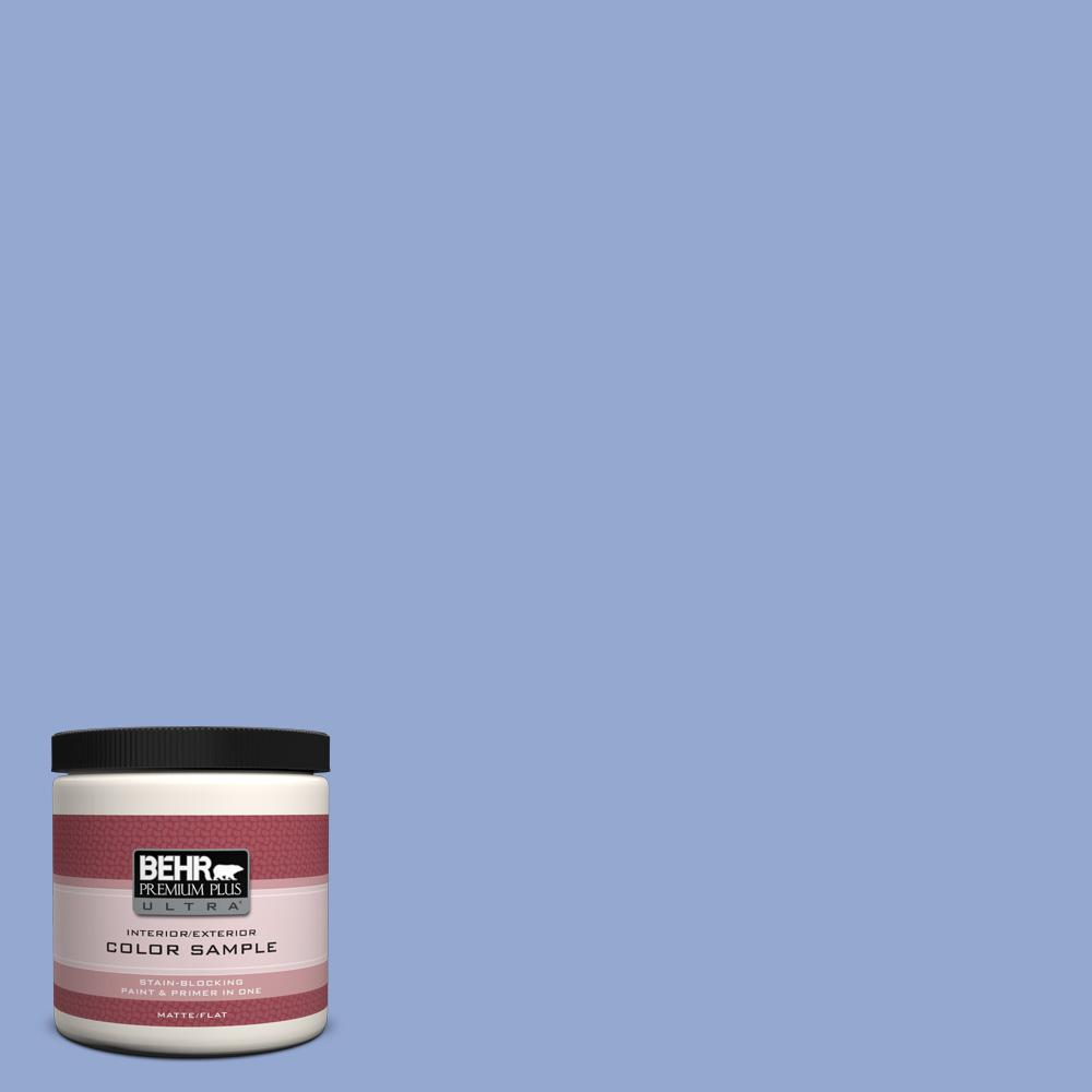 BEHR Premium Plus Ultra 8 oz. #M540-4 Hopeful Dream Matte Interior/Exterior Paint and Primer in One Sample