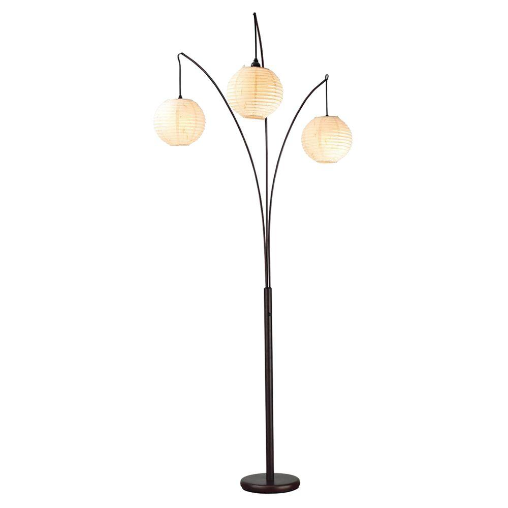 Adesso Spheres 82 in. Antique Bronze Floor Lamp-4101-26 - The Home Depot
