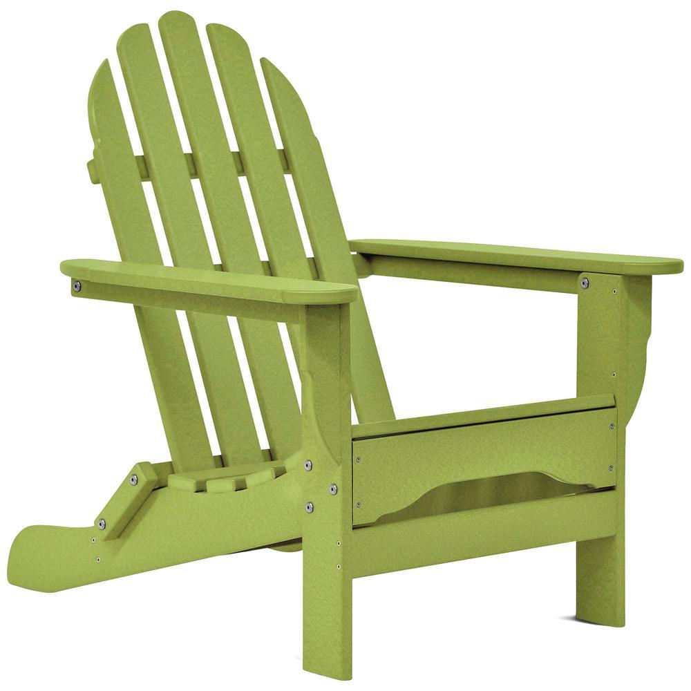 Icon Lime Green Non-Folding Plastic Adirondack Chair