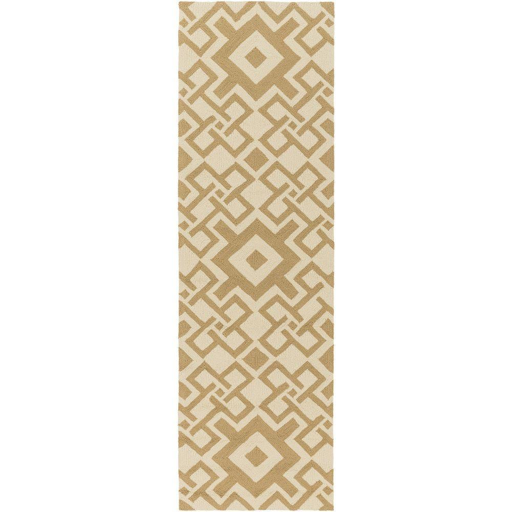 Cahto Mocha 3 ft. x 8 ft. Indoor/Outdoor Runner Rug