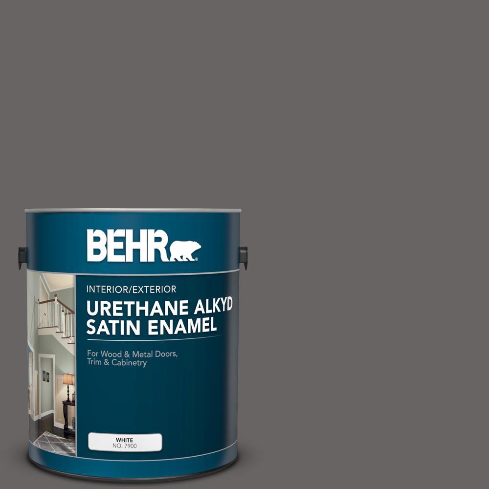 1 gal. #PPU17-19 Arabian Veil Urethane Alkyd Satin Enamel Interior/Exterior Paint