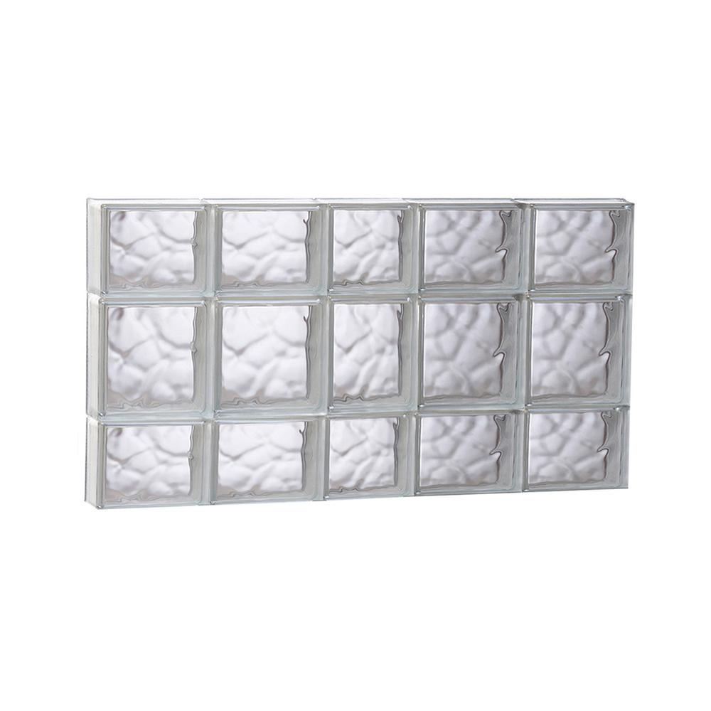 Clearly Secure 36.75 in. x 19.25 in. x 3.125 in. Frameless Wave ...