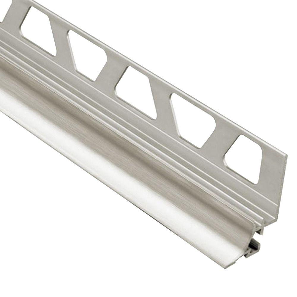 Schluter Dilex Ahka Brushed Nickel Anodized Aluminum 1 2 In X 8 Ft