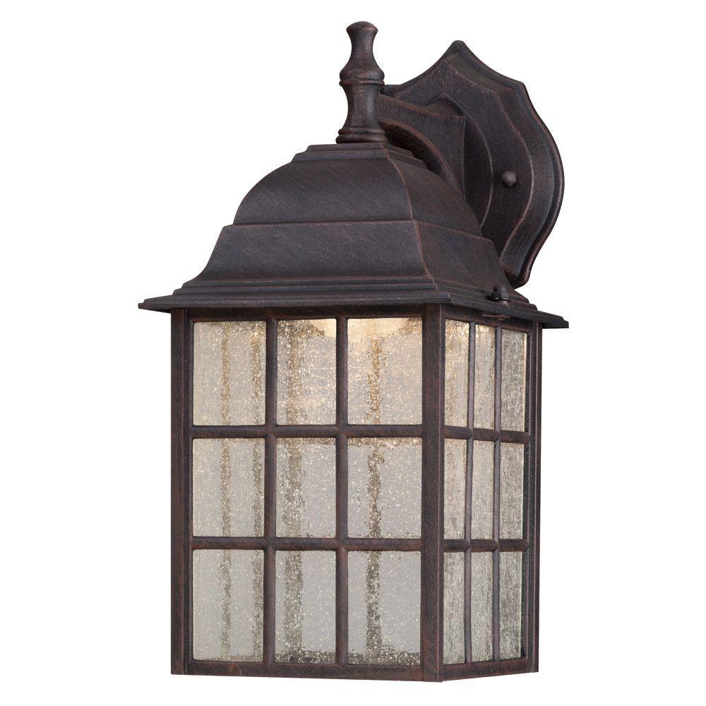 Westinghouse 1 Light Weathered Patina Outdoor Led Wall Mount Lantern
