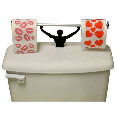 Valentines Hearts Kisses Toilet Paper in Multi-Color with Strong Man Holder Gift Set