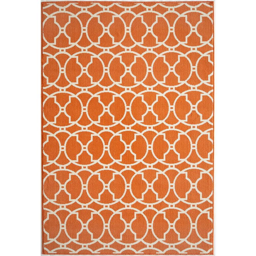 Baja Orange 3 ft. 11 in. x 5 ft. 7 in. Indoor/Outdoor Area Rug
