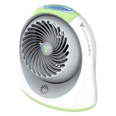 Breesi LS 7.6 in. Nursery Portable Air Circulator Fan with Light and Sound Machine