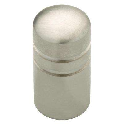Palladium 5/8 in. (16mm) Stainless Steel Cylinder Cabinet Knob