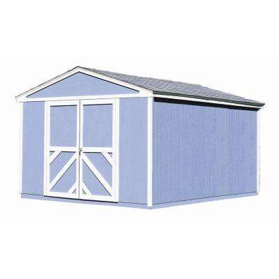Somerset 10 ft. x 14 ft. Wood Storage Building with Floor Kit