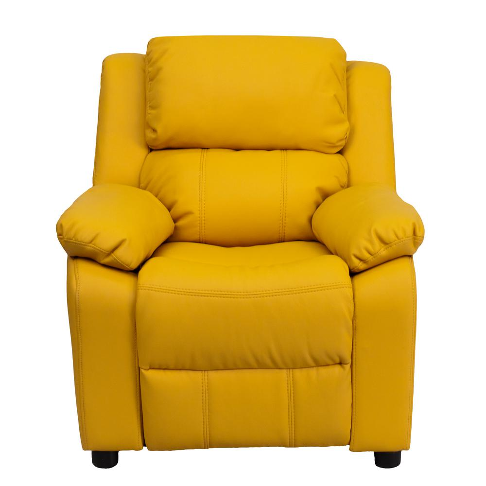 Flash Furniture Deluxe Padded Contemporary Yellow Vinyl