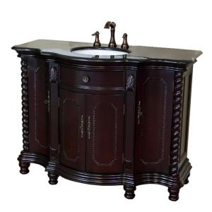 Bellaterra Home Cambridge BG 48 inch Single Vanity in Dark Mahogany with Granite Vanity... by Bellaterra Home