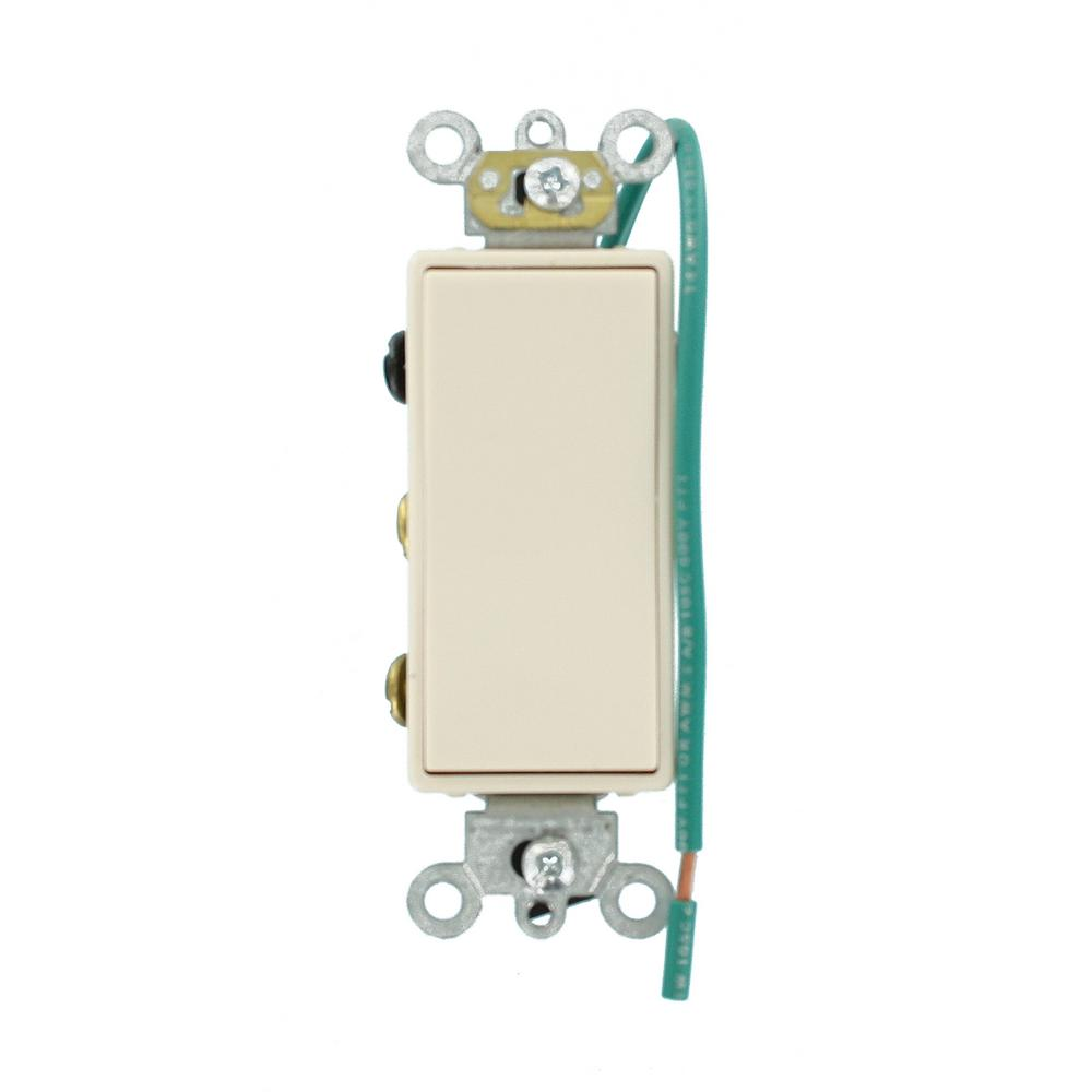 Light Switches Wiring Devices Controls The Home Depot 2 Way Switch Vs Single Pole 15 Amp Decora Plus Commercial Grade Double Throw Center Off