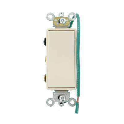 15 Amp Decora Plus Commercial Grade Double Pole Double-Throw Center-Off Maintained Contact Rocker Switch, Light Almond