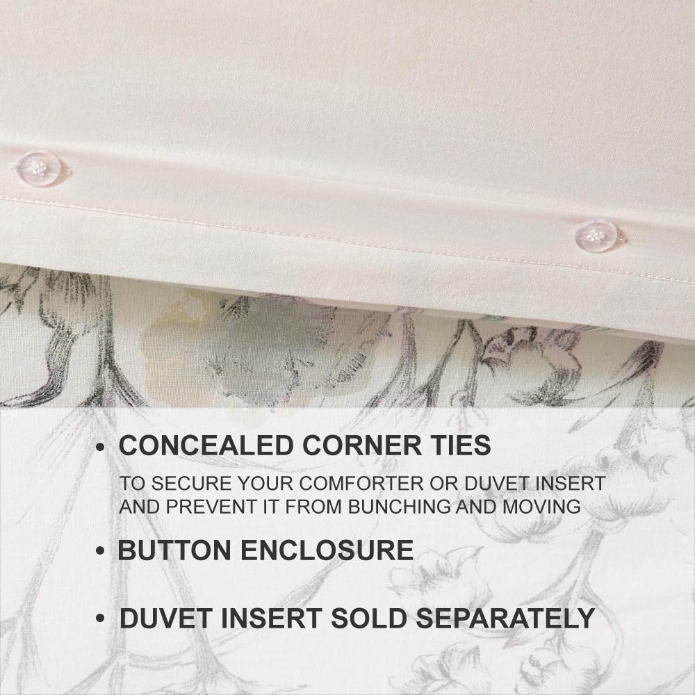 Sidney 3-Piece Clotilde Duvet Cover Set