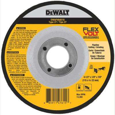 FLEXVOLT Type 27 4-1/2 in. Metal Grinding Wheel