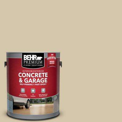 1 gal. #YL-W11 Khaki Shade Self-Priming 1-Part Epoxy Satin Interior/Exterior Concrete and Garage Floor Paint