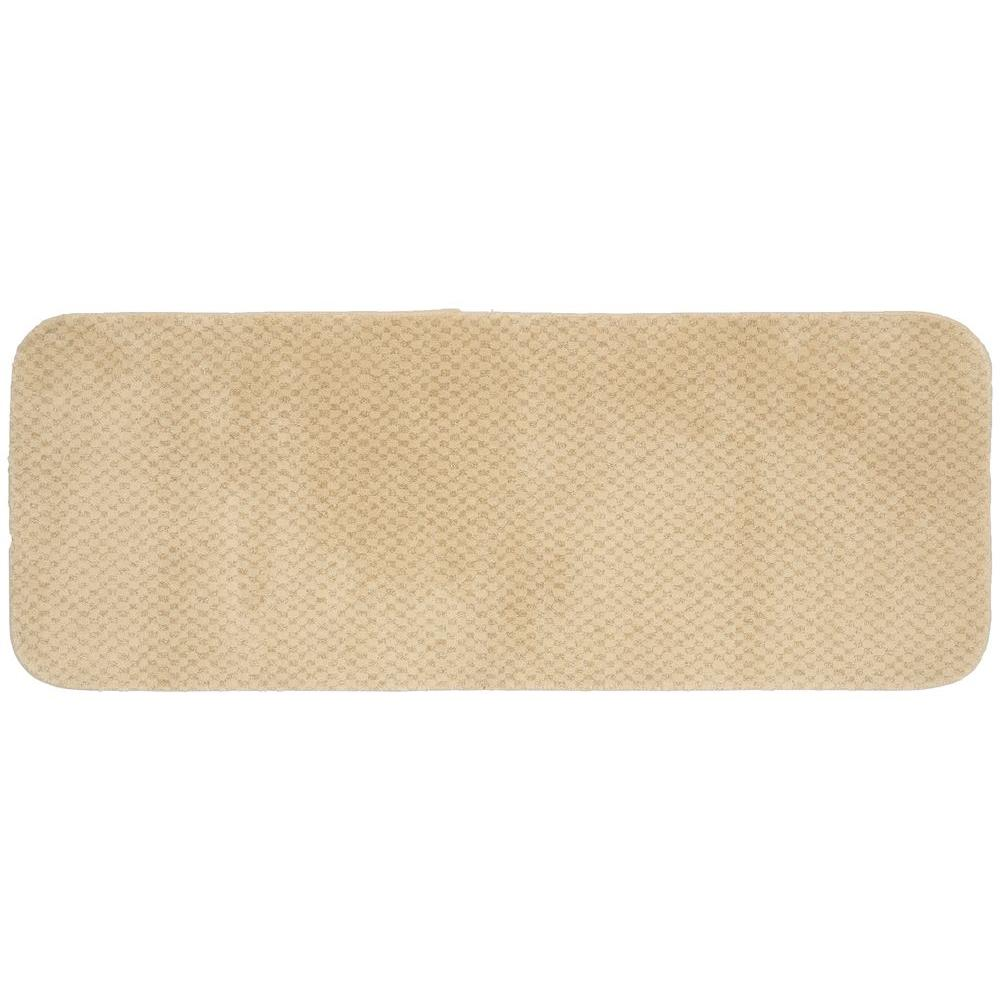 Cabernet Linen 22 in. x 60 in. Washable Bathroom Accent Rug