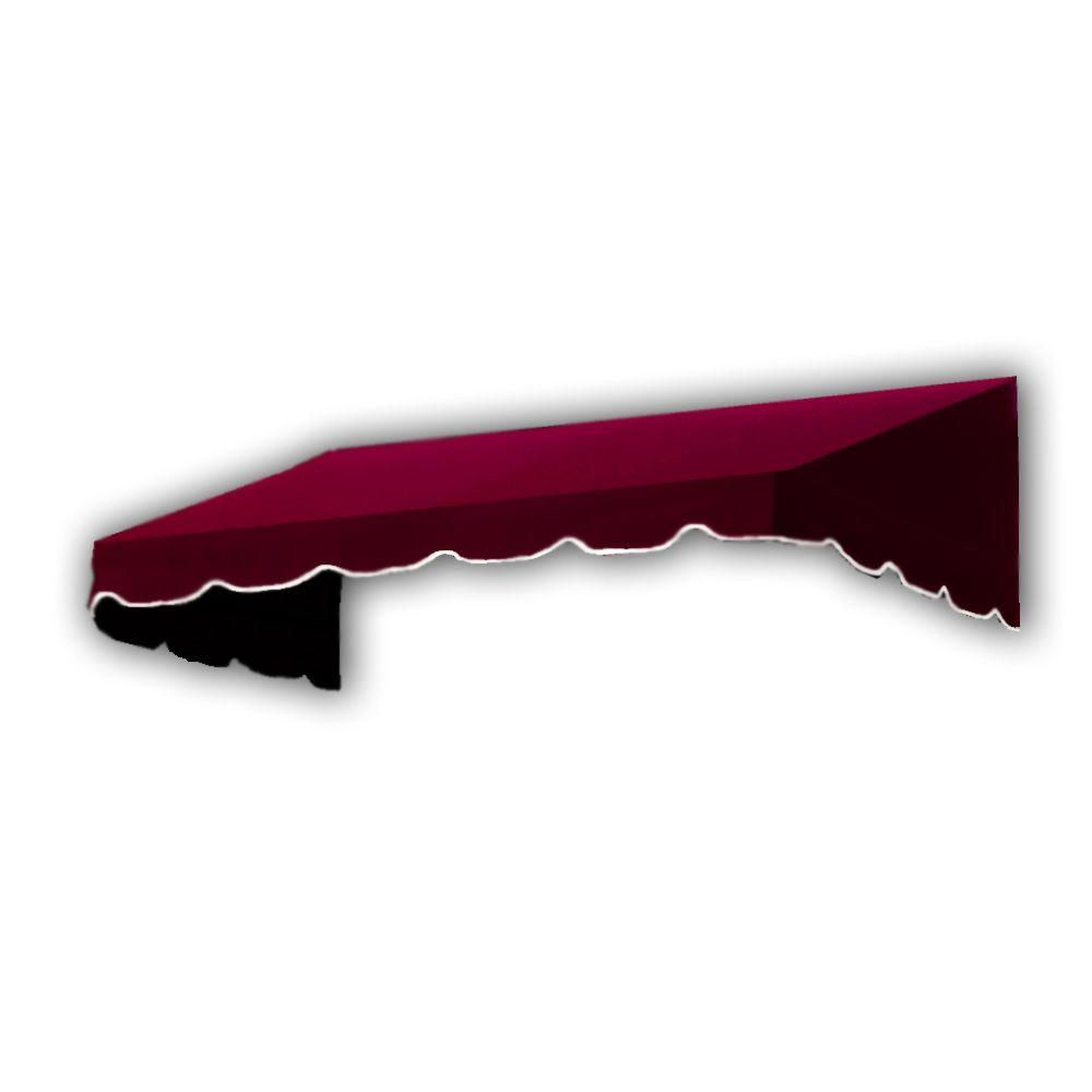 AWNTECH 4 ft. San Francisco Window/Entry Awning (56 in. H x 48 in. D) in Burgundy