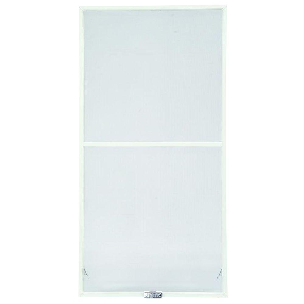 35-7/8 in. x 54-27/32 in., White Aluminum Insect Screen, For 400