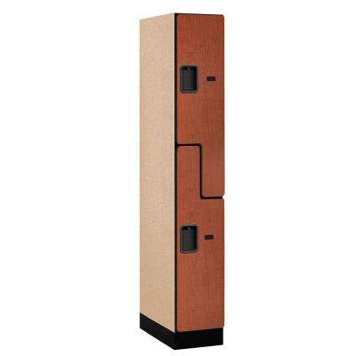 37000 Series 12 in. W x 76 in. H x 21 in. D 2-Tier S-Style Designer Wood Locker in Cherry