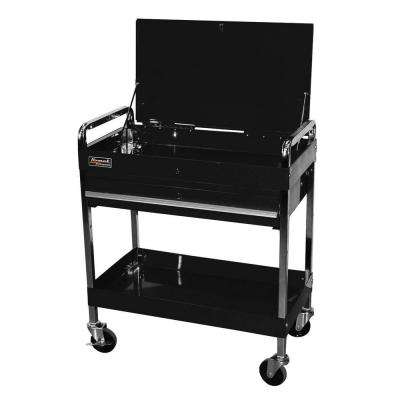 Professional 32 in. 1-Drawer Service Utility Cart in Black