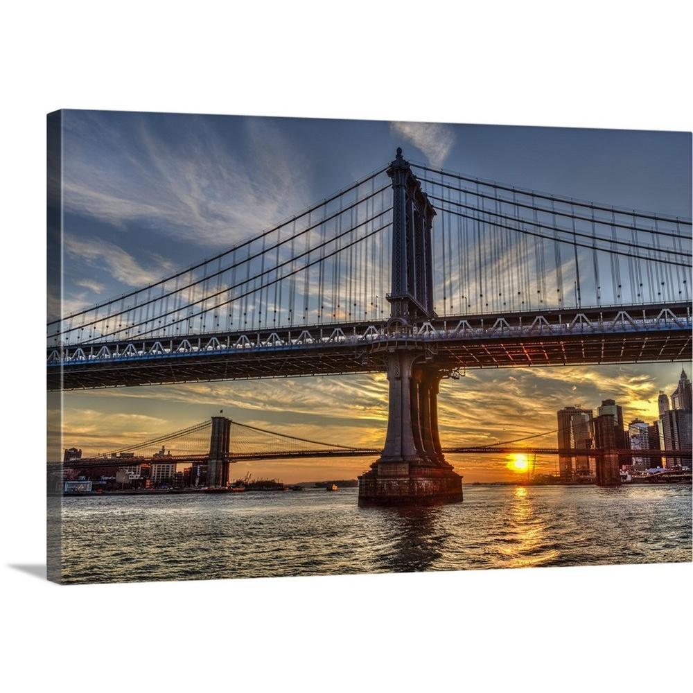 "Kitchen Art America Brooklyn Ny: GreatBigCanvas ""Sun Setting Behind Manhattan And Brooklyn"