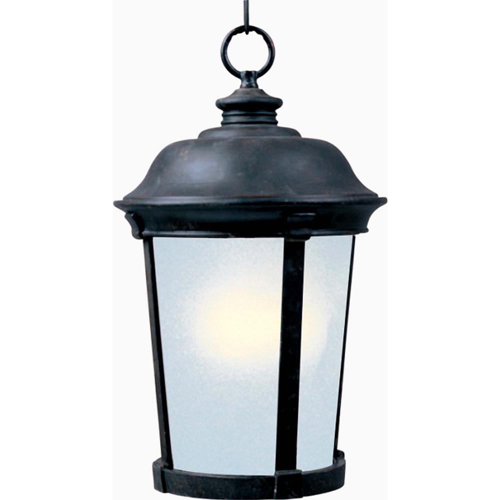 Maxim Lighting Dover 12 in. Wide Bronze 1-Light Outdoor Hanging Lantern