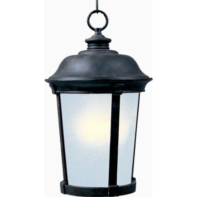 Dover 12 in. Wide Bronze 1-Light Outdoor Hanging Lantern