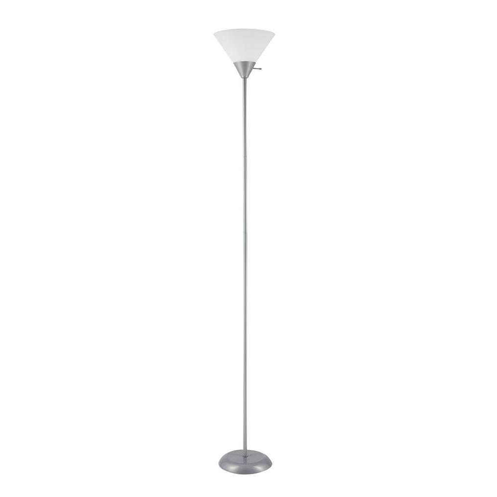 Globe Electric Elliott 72 in. Silver Floor Lamp