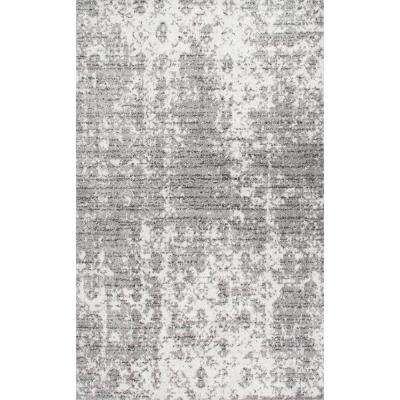 Deedra Faded Contemporary Gray 9 ft. x 12 ft. Area Rug