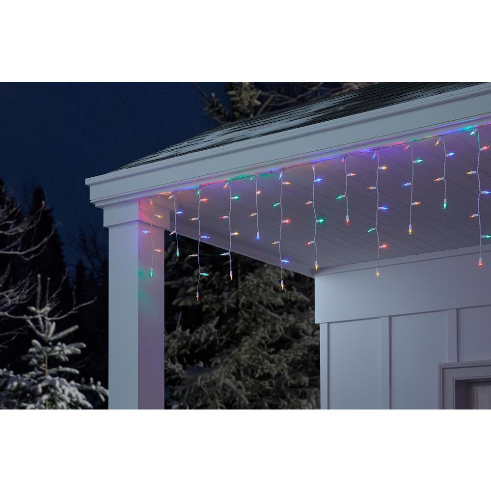 300L LED Smooth Mini Icicle Super Bright Constant On Multi