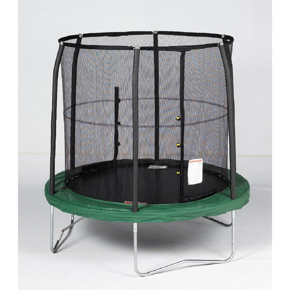 Upper Bounce 15 ft. Trampoline and Enclosure Set Equipped ...