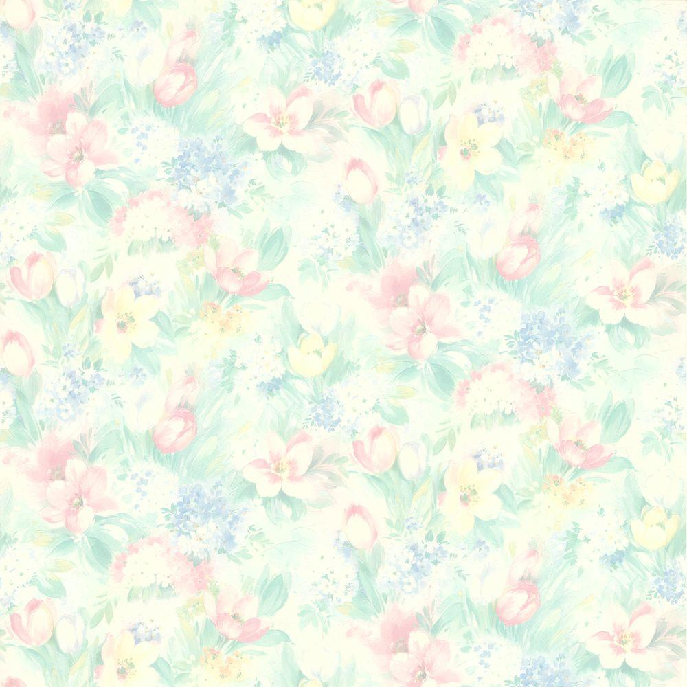 Georgia Pastel Floral Motif Wallpaper 414 75868 The Home