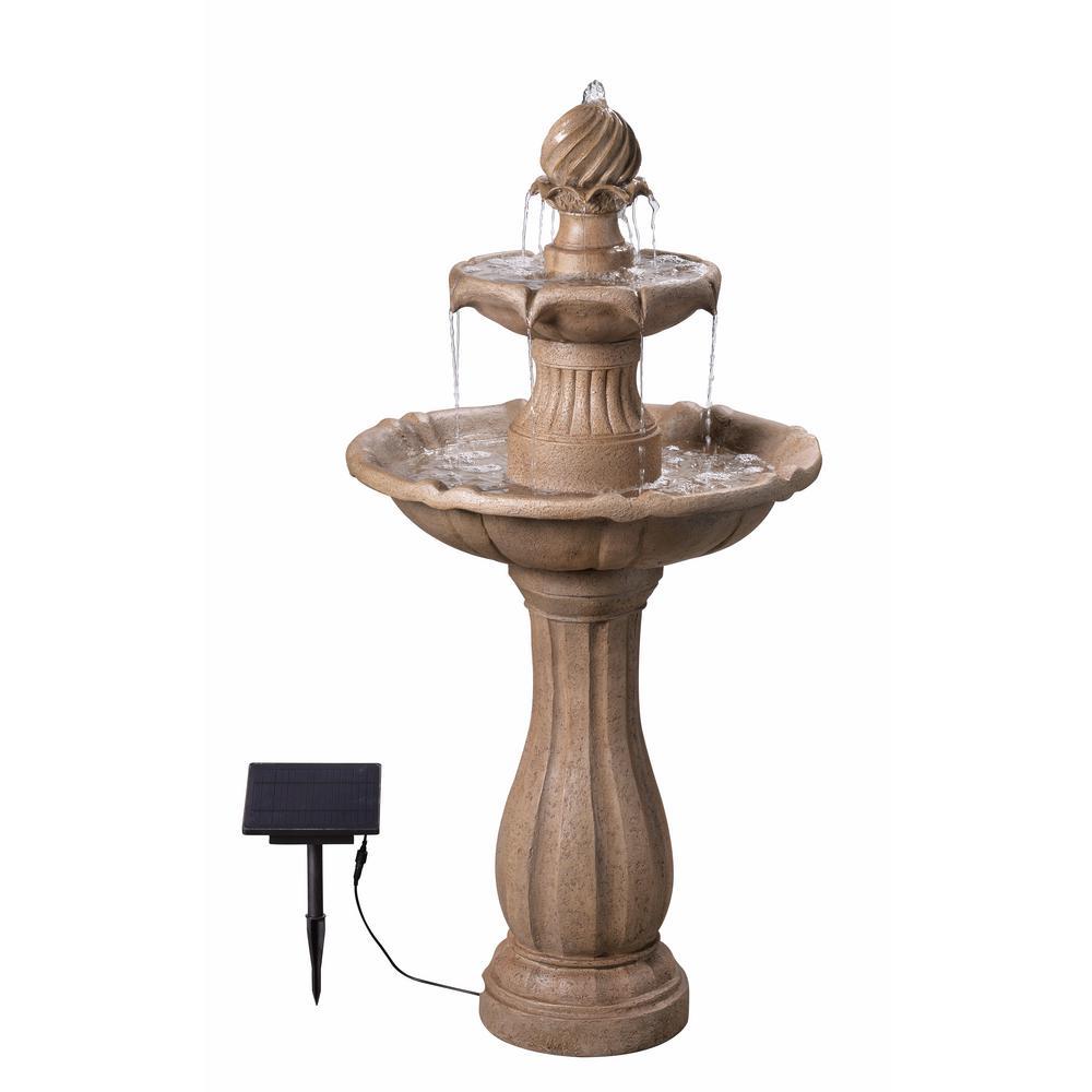 Frost Resin Outdoor Solar Floor Fountain