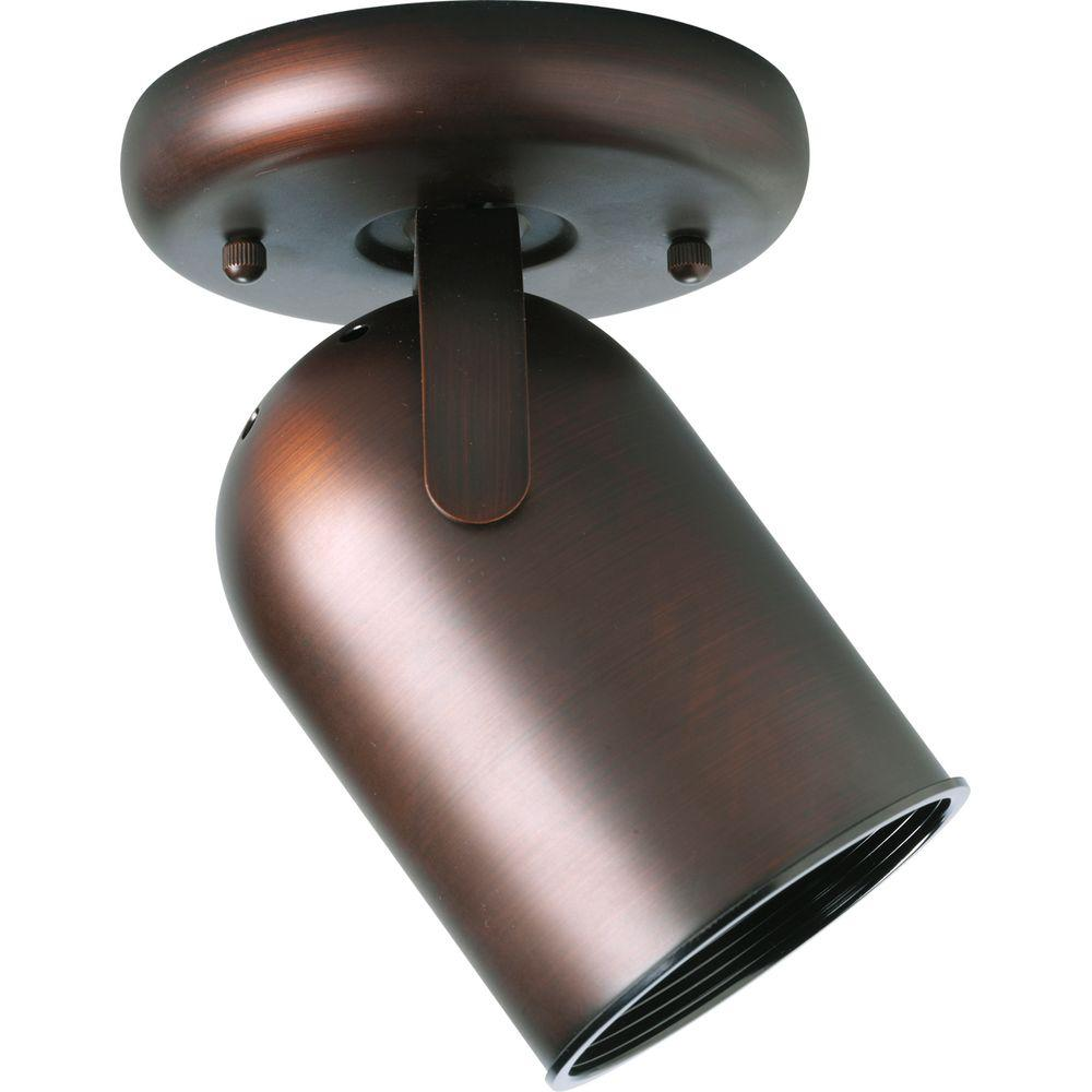 Progress Lighting 1-Light Urban Bronze Track Lighting Fixture Metal cylinder style light with integral swivel to provide accent or task lighting. Install as a ceiling or wall mount fixture.