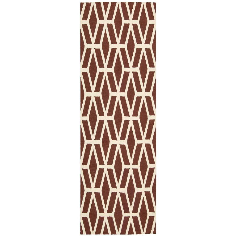 Nourison Linear Brick/Ivory 2 ft. 3 in. x 7 ft. 6 in. Rug Runner