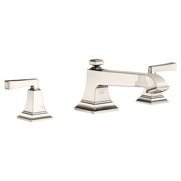 American Standard Town Square S 2 Handle Deck Mount Roman Tub Faucet In Polished Nickel T455900 013 The Home Depot