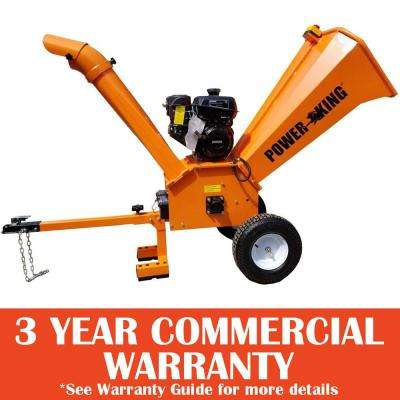 4 in. 9.5 HP Gas Powered Commercial Chipper Shredder with Removable Tow Hitch Bar