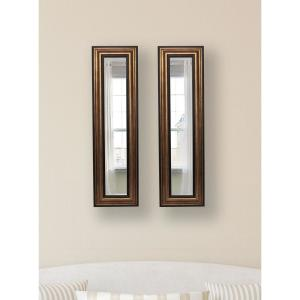 15 inch x 39.5 inch Canyon Bronze Vanity Mirror (Set of 2-Panels) by