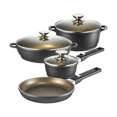 Vario Click Induction 7 Piece Bronze Cookware Set with Lids