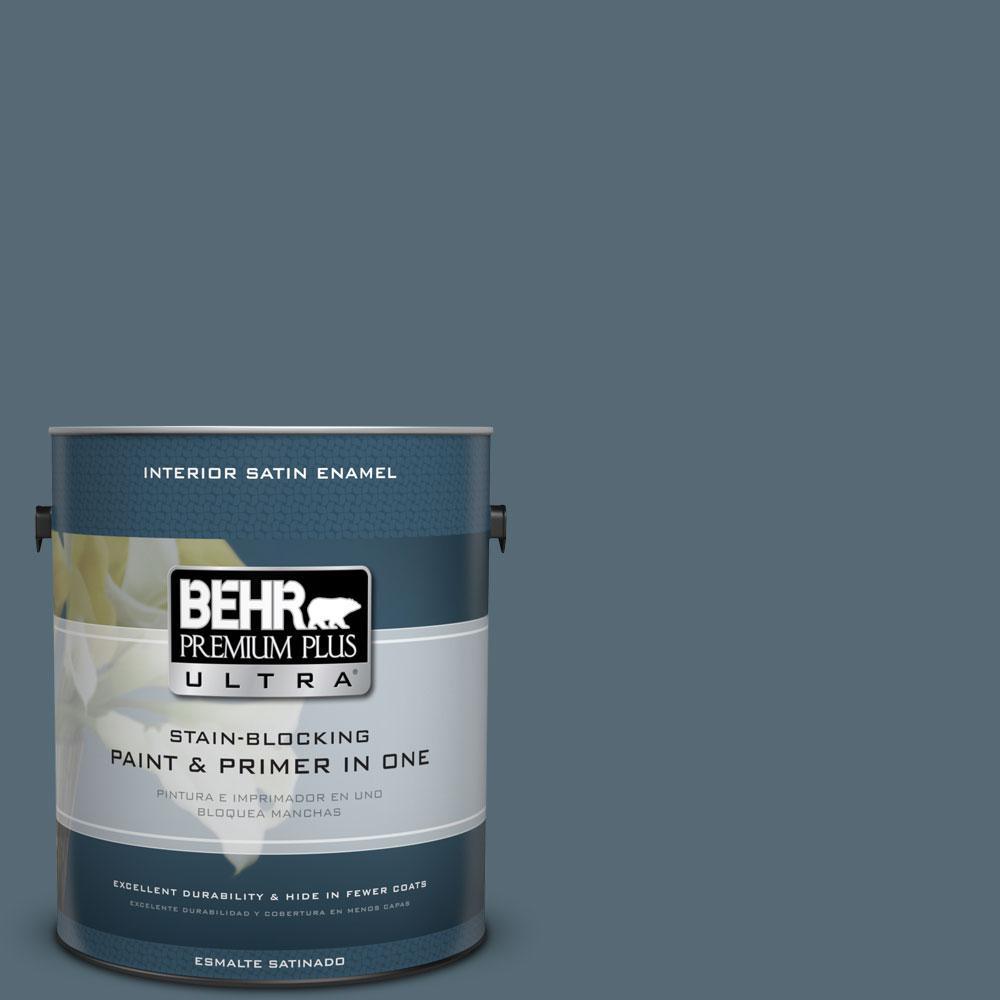 1 gal. #ECC-64-3 Desert Night Satin Enamel Interior Paint and Primer