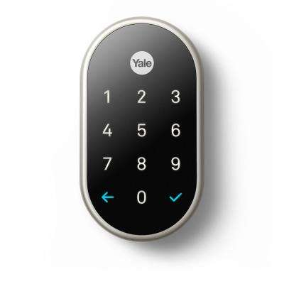 Nest x Yale Lock Satin Nickel with Google Nest Connect