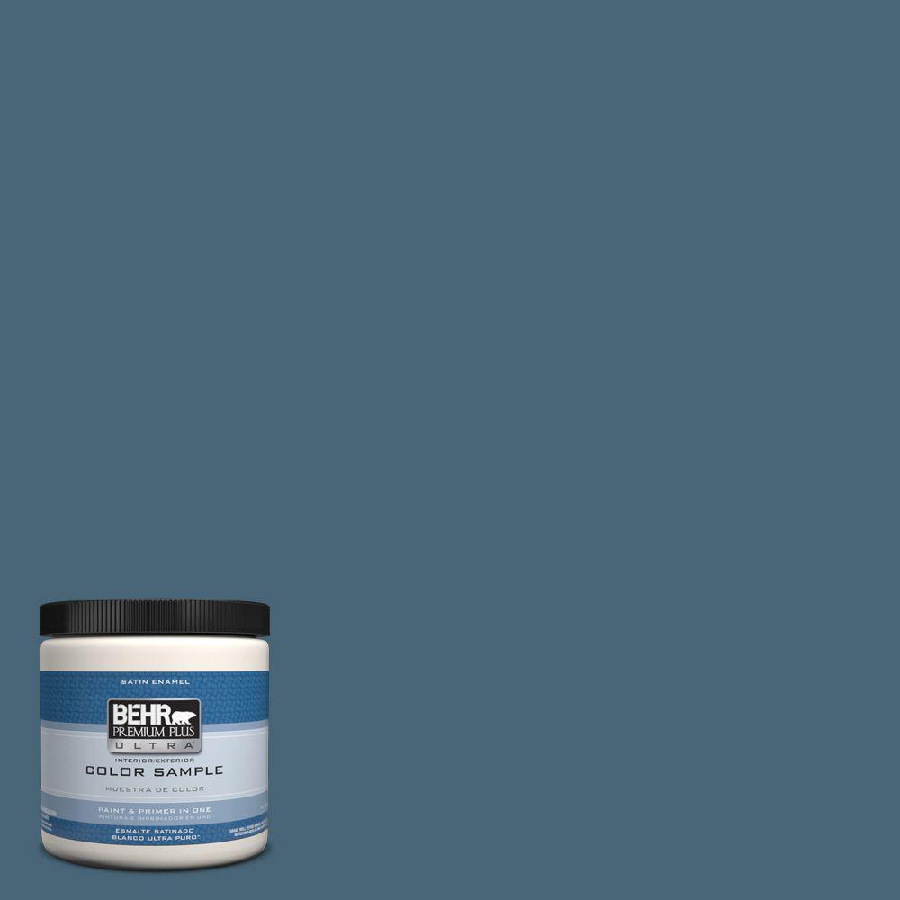 Behr Premium Plus Ultra 8 Oz Hdc Wr15 6 Winter Evening Interior Exterior Satin Enamel Paint