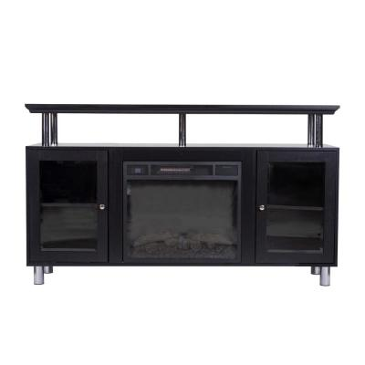 Home Source Felix Black TV Stand with Electric Fireplace