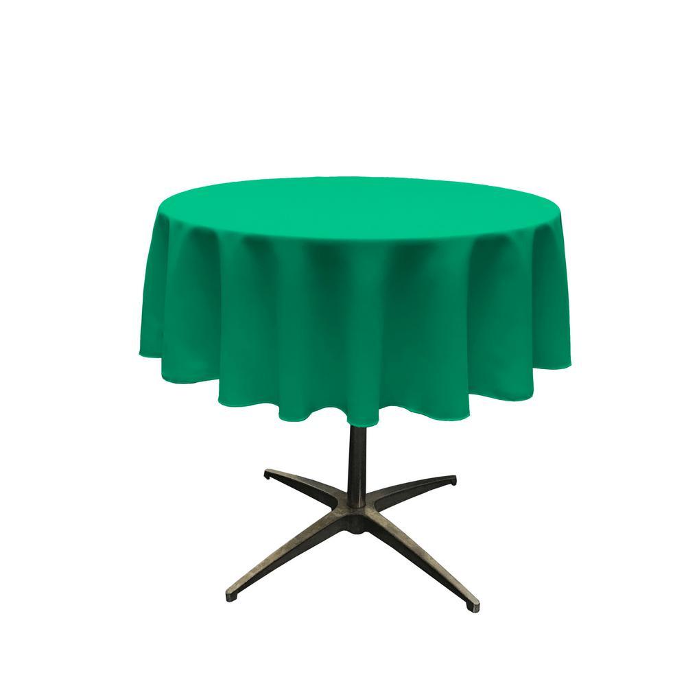 Round Jade Polyester Poplin Tablecloth Tcpop58r Jadep53 The Home Depot