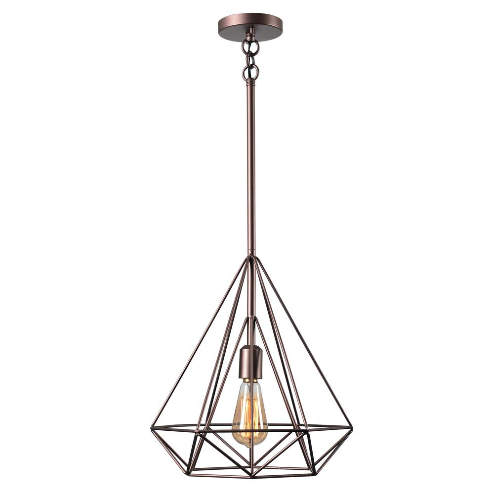 Kenroy Home Pyramid 1-Light Vintage Copper Pendant-93580VC - The ...
