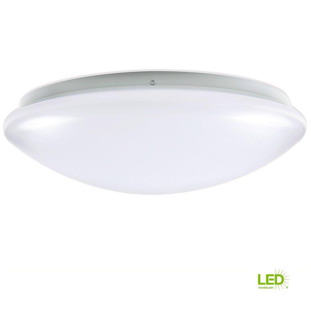 EnviroLite 14 in. 150-Watt Equivalence White Integrated LED Round Ceiling Flushmount