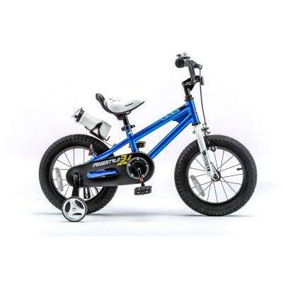 14 in. Wheels Freestyle BMX Kid's Bike, Boy's Bikes and Girl's Bikes with Training Wheels in Blue