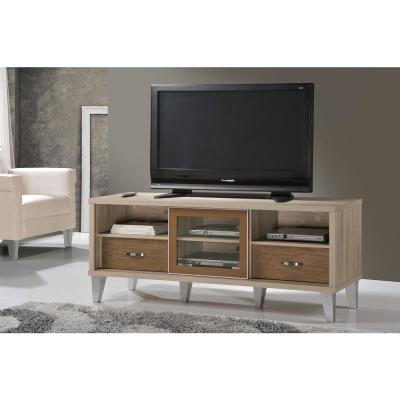 White and Brown Living Hall Cabinet