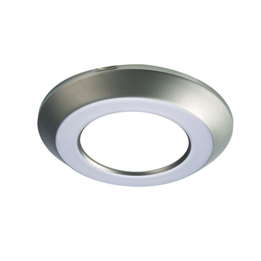 SLD 4 in. Satin Nickel Recessed Lighting Retrofit Replaceable Trim Ring